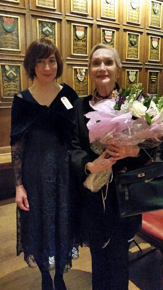 Dr Maria Lenn (CE) with Dame Sian Phillips